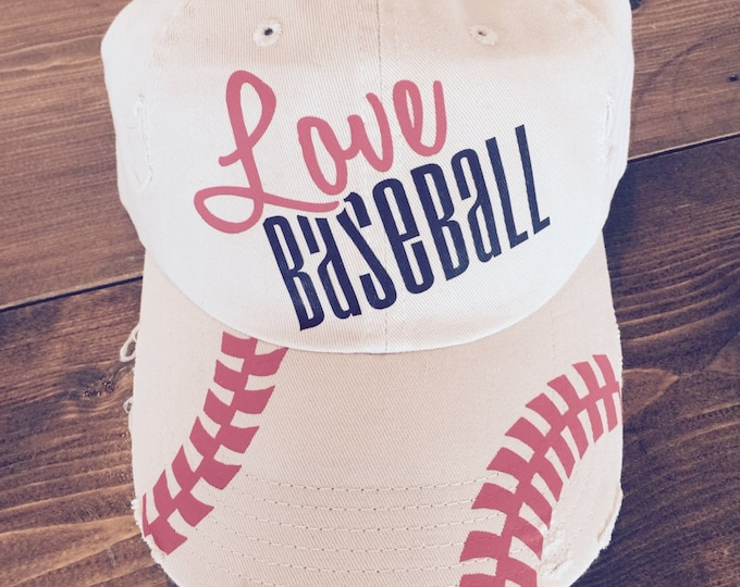 Love Baseball Distress Cap