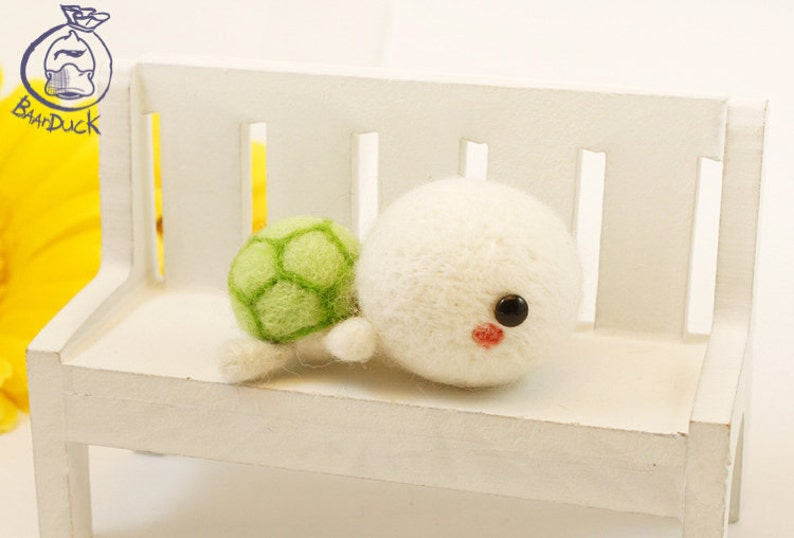 Turtle PDF Instant Download Wool Felting Instructions Tutorial and step by step walkthrough. DIY instructions to create a wool animal