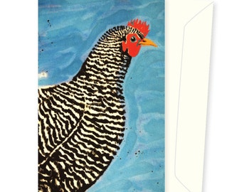 Polly the Plymouth Rock greeting card