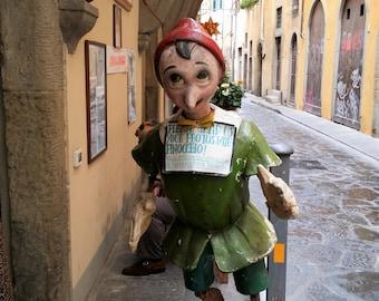 Pinocchio print, Florence print, Pinocchio photograph, Florence photo, Florence art, Italy photograph, Art gift, Italian art, Italy gift