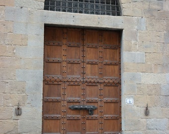Photograph of medieval/Renaissance door in Florence, Italy, Florence architecture, Florence print, Florence photograph, Italy print