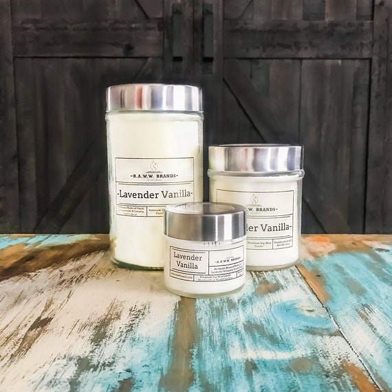 Natural Premium Soy Wax Wooden Wick Candle