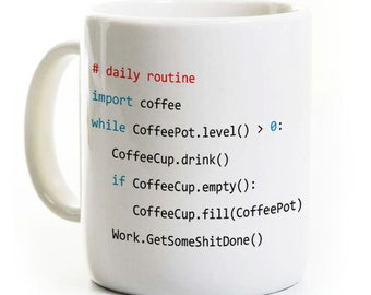 Python Program Coffee Mug/Tea Cup - Computer Science Programmer Software Developer Gift Ceramic - Can Be Personalized