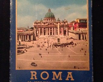 Roma 32 Vedute A Colori Parte I Rome Italy Vintage Postcards 1940's 1950's