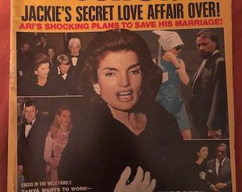 February 1970 Screen Stars vintage magazine Jackie O Kennedy Elvis Paul Newman Mia Farrow Liz Taylor