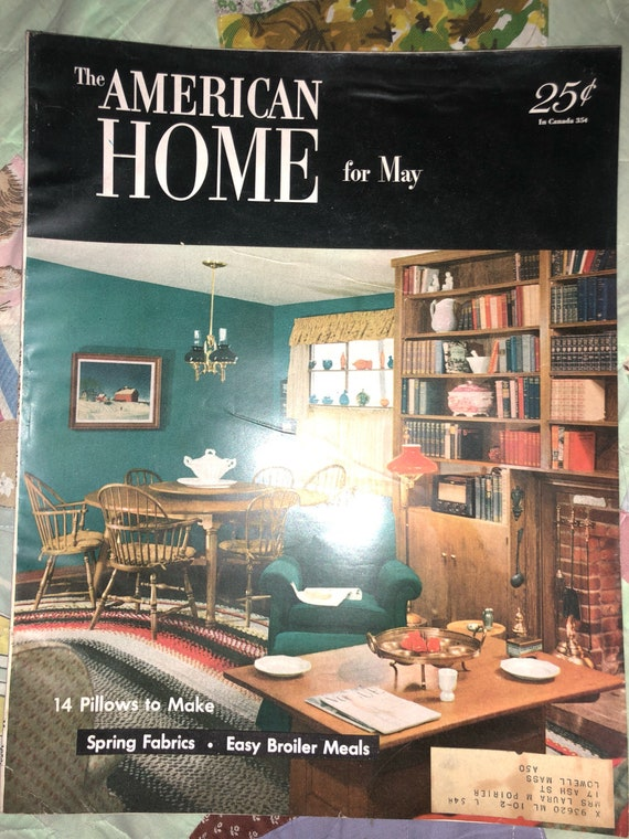 Vintage American Home Magazine House May 1952 Interior Design Etsy
