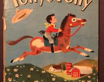 1952 vintage hardcover Tony's Pony by Miriam Schlein Van Kaufman A See-Saw Book RARE
