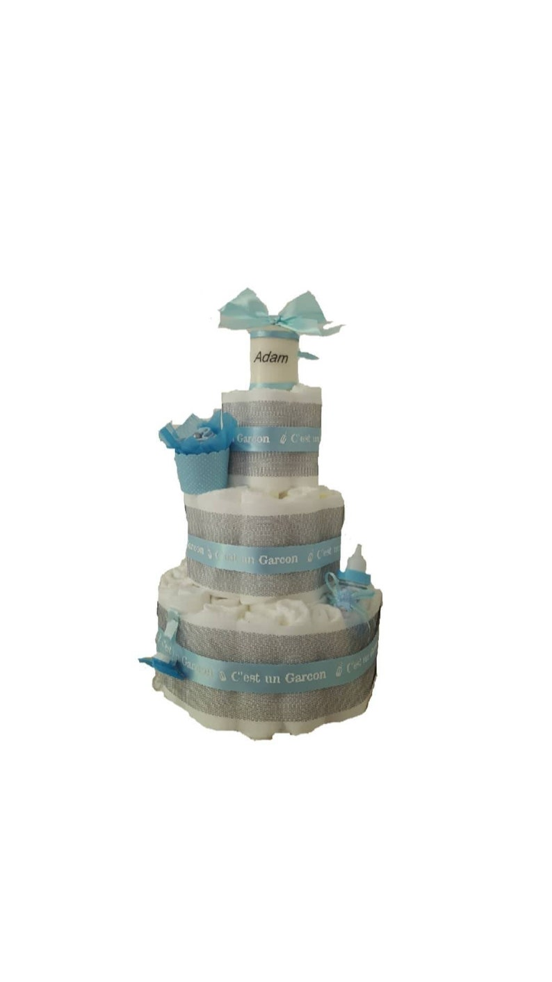 Boy diaper cake image 0