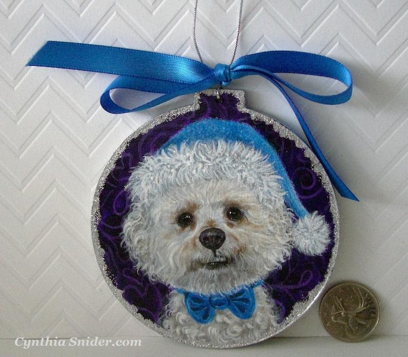 Custom ornament  Christmas pet ornament   wood ornament  image 1