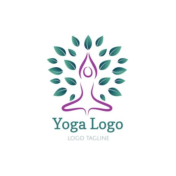yoga logo meditation logo yoga tree logo lotus pose logo etsy yoga logo meditation logo yoga tree logo lotus pose logo tree logo lotus tree logo premade logo logo design graphic design