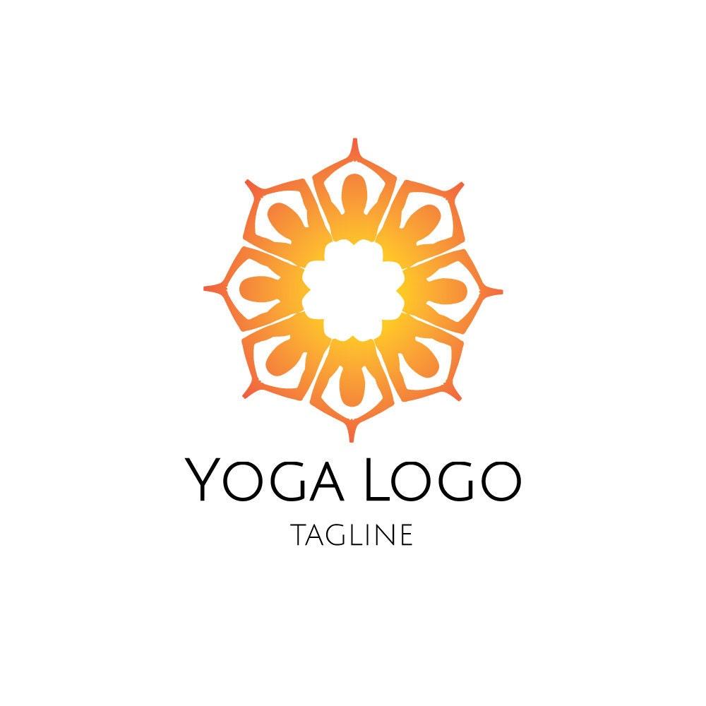 mandala logo yoga logo meditation logo corporate yoga zen etsy