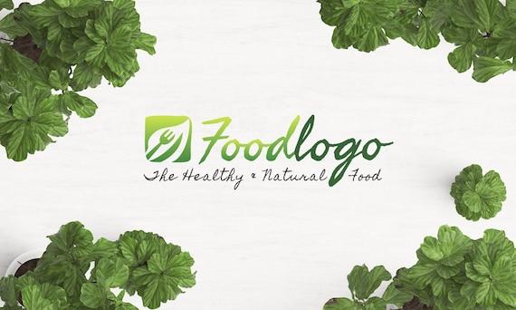 Organic Food Logo Food Logo Restaurant Logo Eco Logo Green Etsy