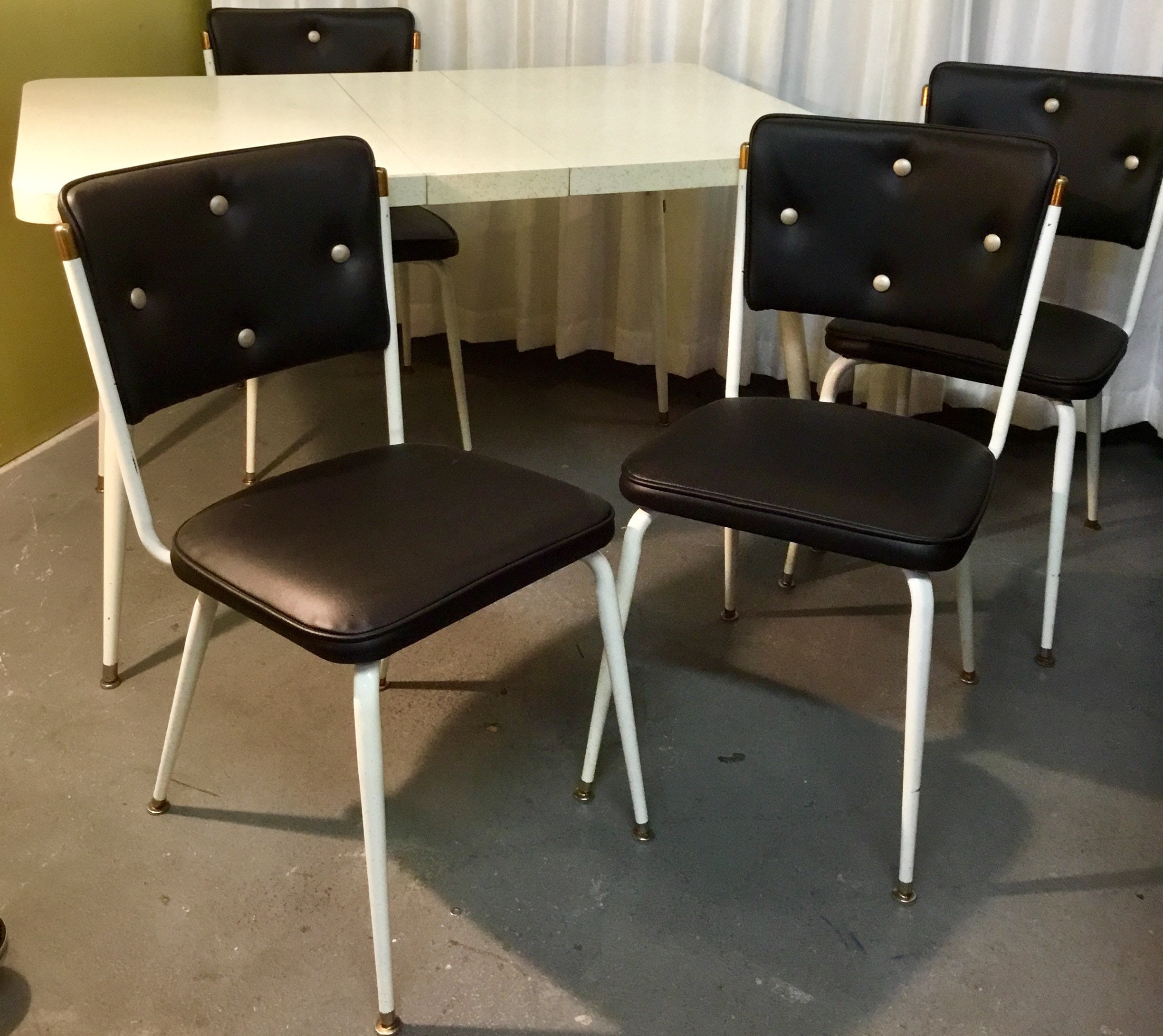 adorable 1950s formica kitchen table with four newly
