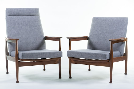 Miraculous A Beautiful Pair Of His And Hers Guy Rogers Manhattan 1960S Reclining Lounge Chairs Short Links Chair Design For Home Short Linksinfo