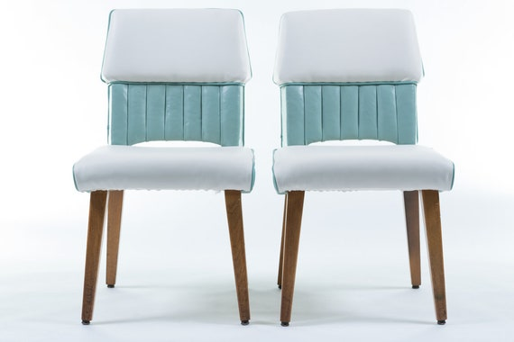 Perfect Mid-Century Rehupolstered Office Chairs By Marble Furniture