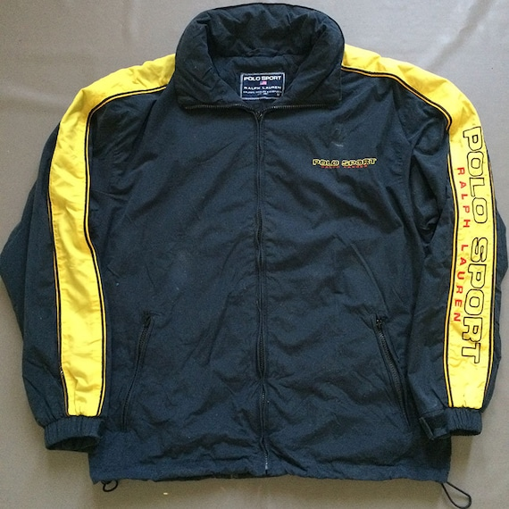 Vintage Polo Sport Striped Polo Spell Out Jacket P