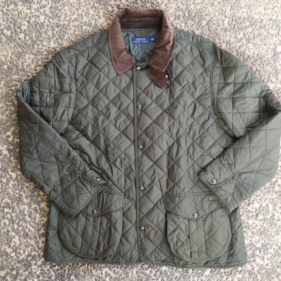 Polo Ralph Lauren Olive Green Quilted Corduroy Col
