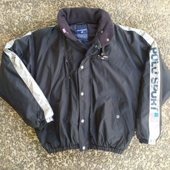 Vintage Polo Sport Spell Out Winter Jacket Polo Sk