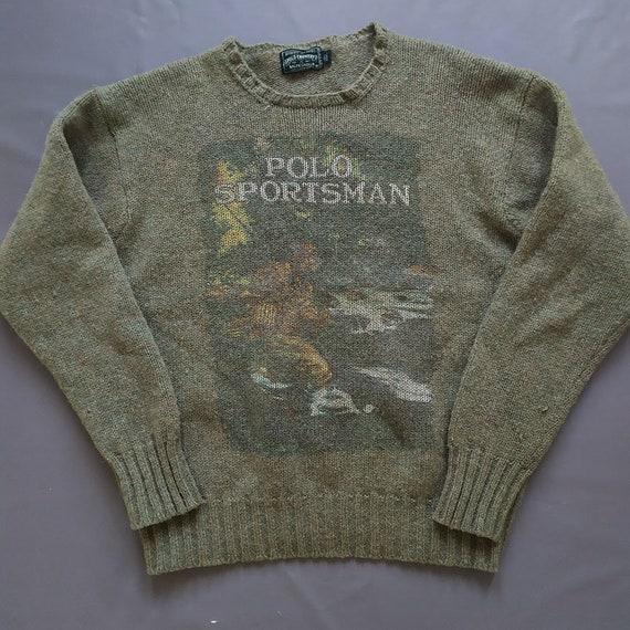 Vintage Polo Ralph Lauren Polo Sportman Knit Sweat