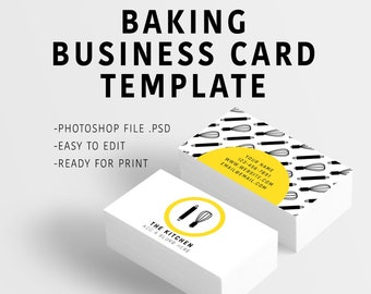 baking themed editable business card template photoshop template for business cards with psd branding business card graphic modern design
