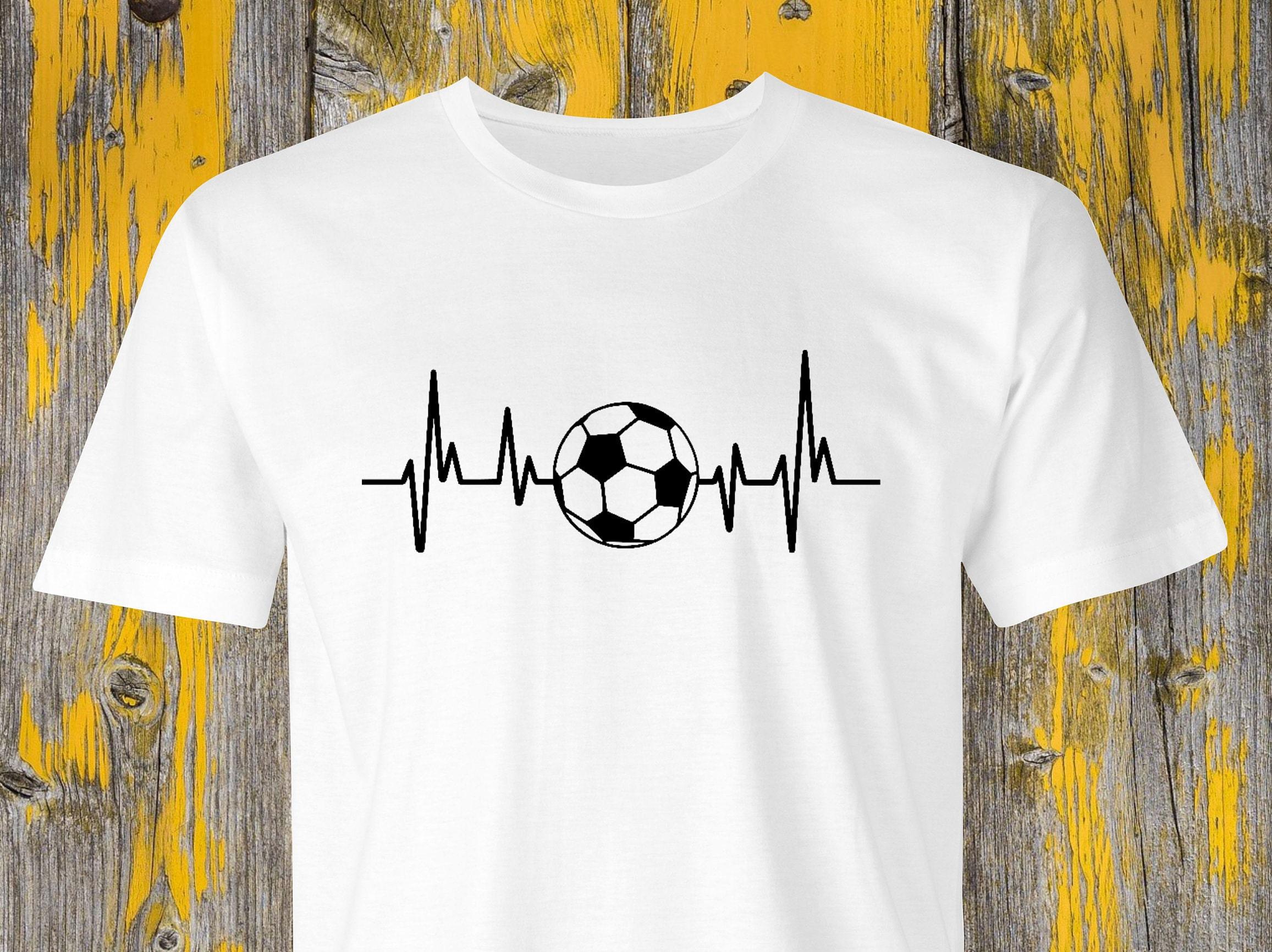 Football Heartbeat T-shirt Soccer Heartbeat Shirt Football Printsoccer Ball Heartbeatsoccer T-shirtfootball Game Tshirt Soccer Ball. Unisex Tshirt