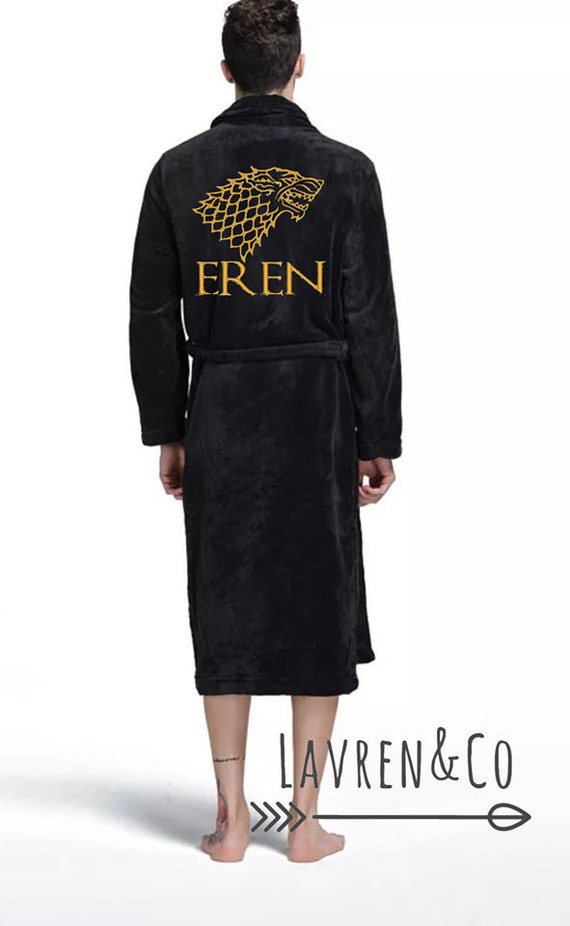 Personalised Dressing Gown Game Of Thrones Bath Robe His And Etsy