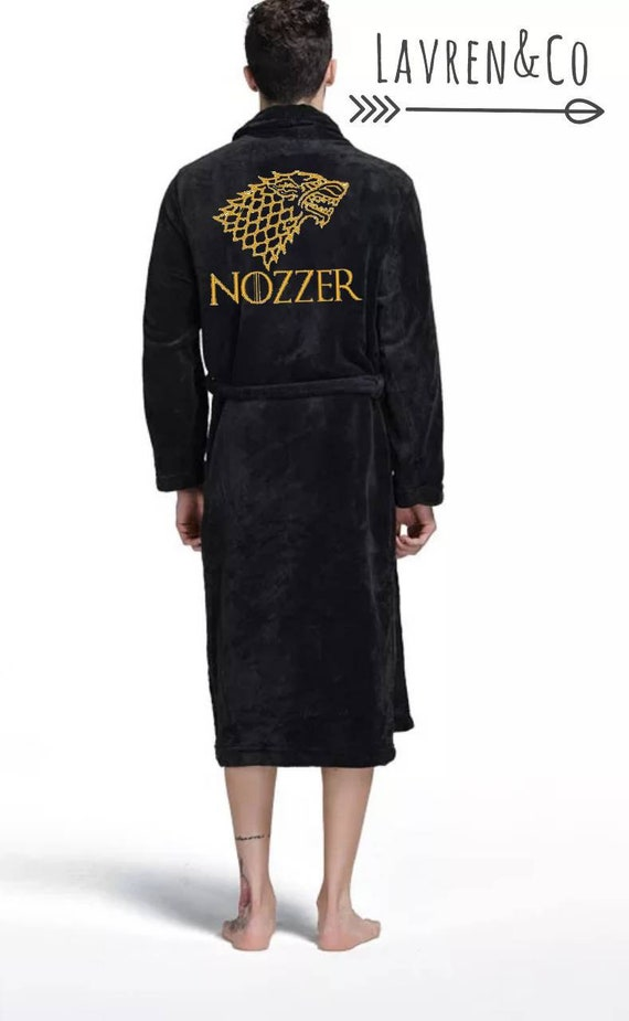 a2d0e9da1e Personalised dressing gown Game of Thrones bath robe His and
