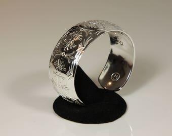 Silver Bracelet, Cuff, Silver Cuff, Fine Silver, .999 Silver