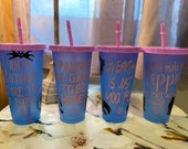 Color Changing Silhouette theme Cups