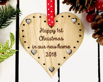 First Christmas new home ornament housewarming gift our first home first home ornament new house ornament new home gift new house gift 3CD