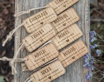Groom survival kit, Grooms survival kit tags, groom survival, groom gift, groom present, rustic wedding, wedding morning, groom card, 01WG