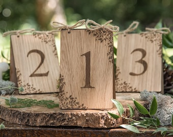 Wooden table numbers, wedding table number, table number, table number wedding, rustic wedding, wedding decor, wedding, wedding table, 07TN
