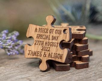Wedding, Favours, Wedding favors, wedding decor, Rustic wedding decor, puzzle favors, rustic wedding, personalized favor for favor box MM