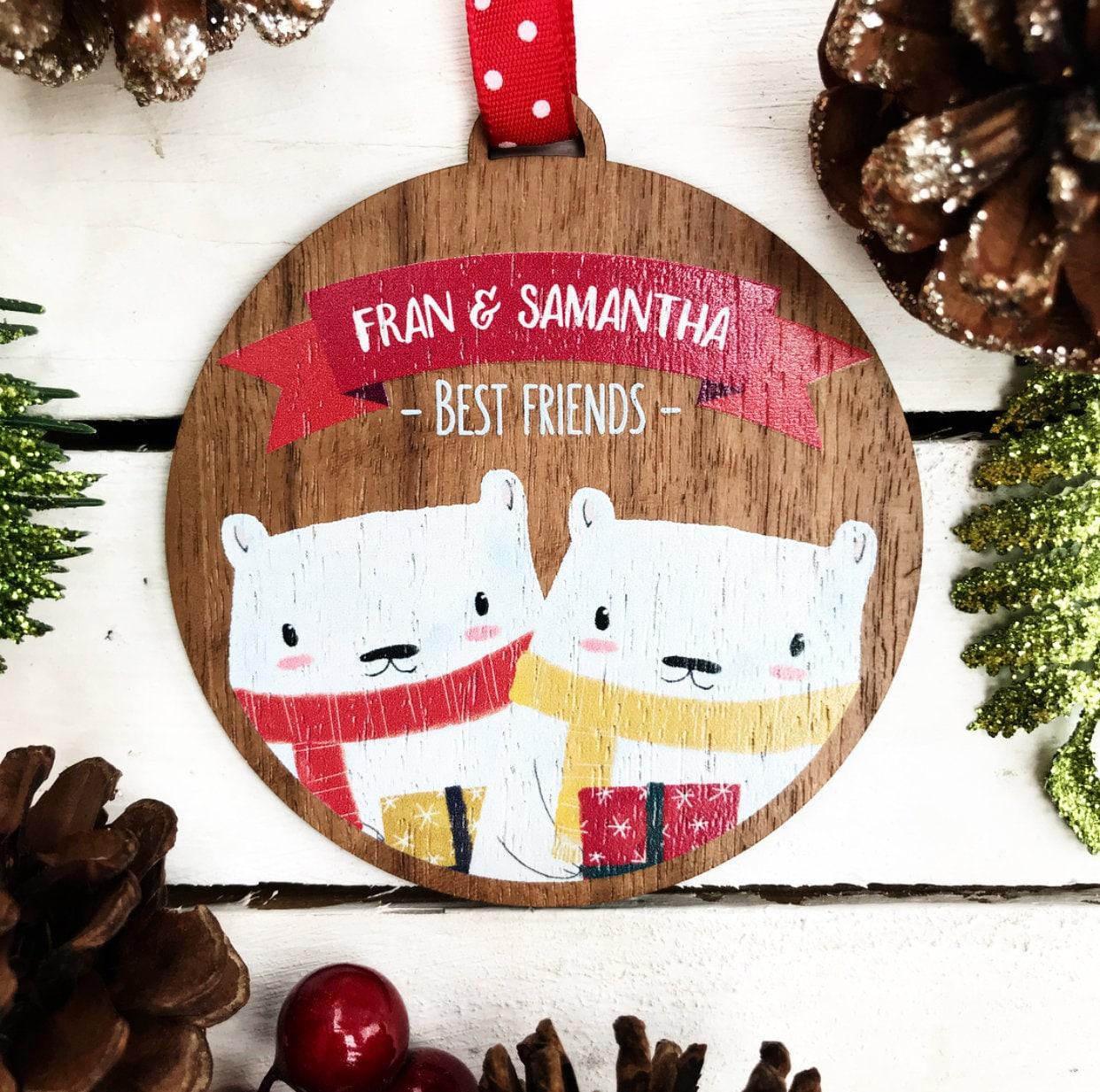 Beste freundgeschenk erste Weihnachten Christbaumkugel | Etsy