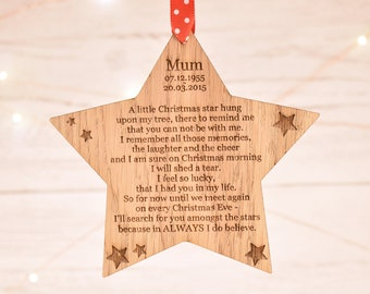 Memorial ornament, christmas ornament, memorial gift, custom ornament, ornament, remembrance ornament, memorial, memorial ornaments,  5CD