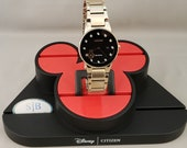 Mickey Mouse Watches, Disney Watch, Citizen Mickey Mouse Watch, Rose Gold Mickey Mouse Watch with Black Dial, Mickey Mouse Silhouette Watch