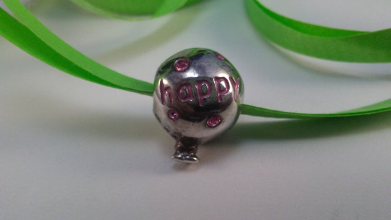 Happy Birthday Balloon Charm, Sterling Silver Birt