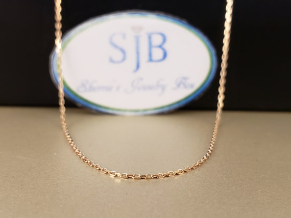 Chains, 14k Gold Chains, 14k Rose Gold Chains, Dia