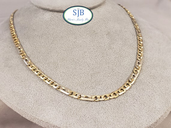 Gold Chains, Solid 18k White & Yellow Gold Chain,