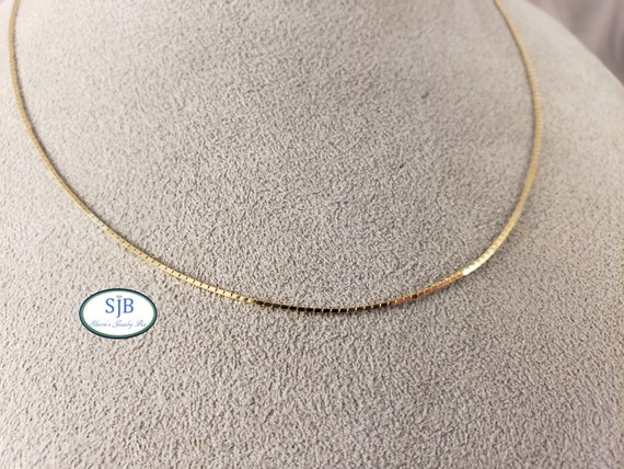 Gold Chains, 14k Gold Chains, 14k Yellow Gold Box