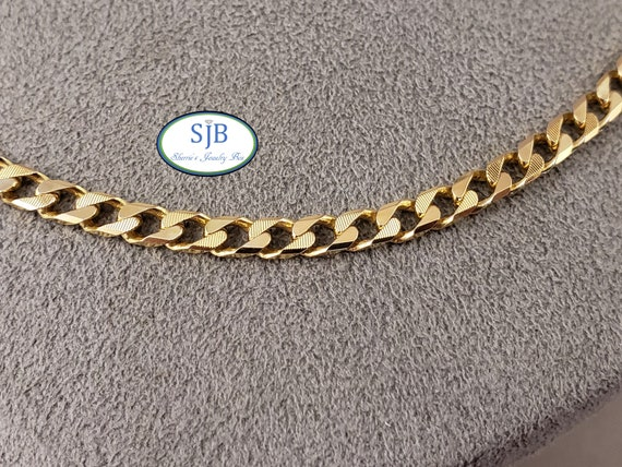 Gold Chains, 14k Yellow Gold Chains, Curb Chain, T