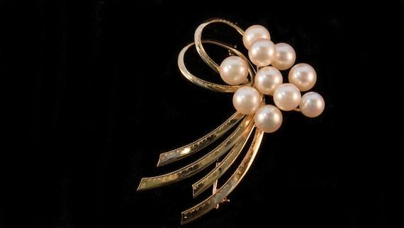 Vintage Pearl Brooch, Vintage Akoya Pearl Brooch,… - image 2