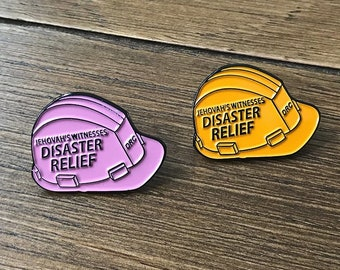 10 pieces   of Disaster Relief Lapel Pin