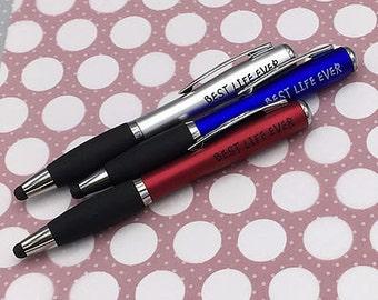 10  Best Life Ever Flashlight Stylus Pen