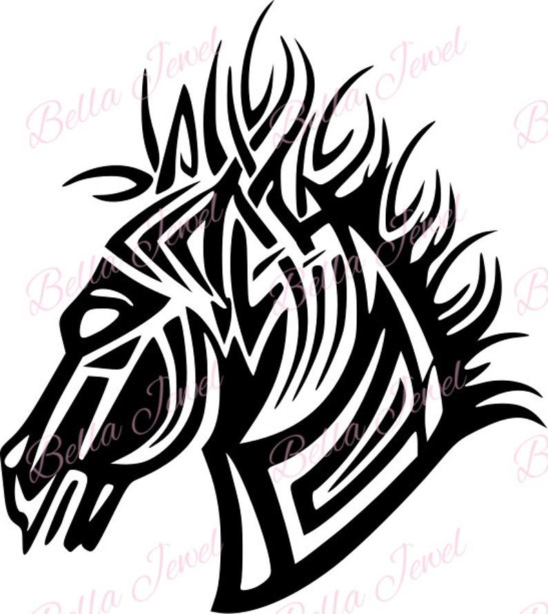 Koń Svg Wzór Tatuażu Tatuaż Konia Svg Koń Tatuaż Svg Pliku Svg Svg Koń Sztuki Plików Svg Do Cricut