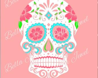 Sugar Skull SVG, sugar skull, svg, skull svg, svg files for cricut