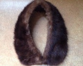 Vintage Mink Collar - Brown Color - Detachable Collar - Fashion Accessory