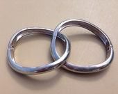 Silver Bangle Bracelets - Vintage Jewelry - Fashion Accessory