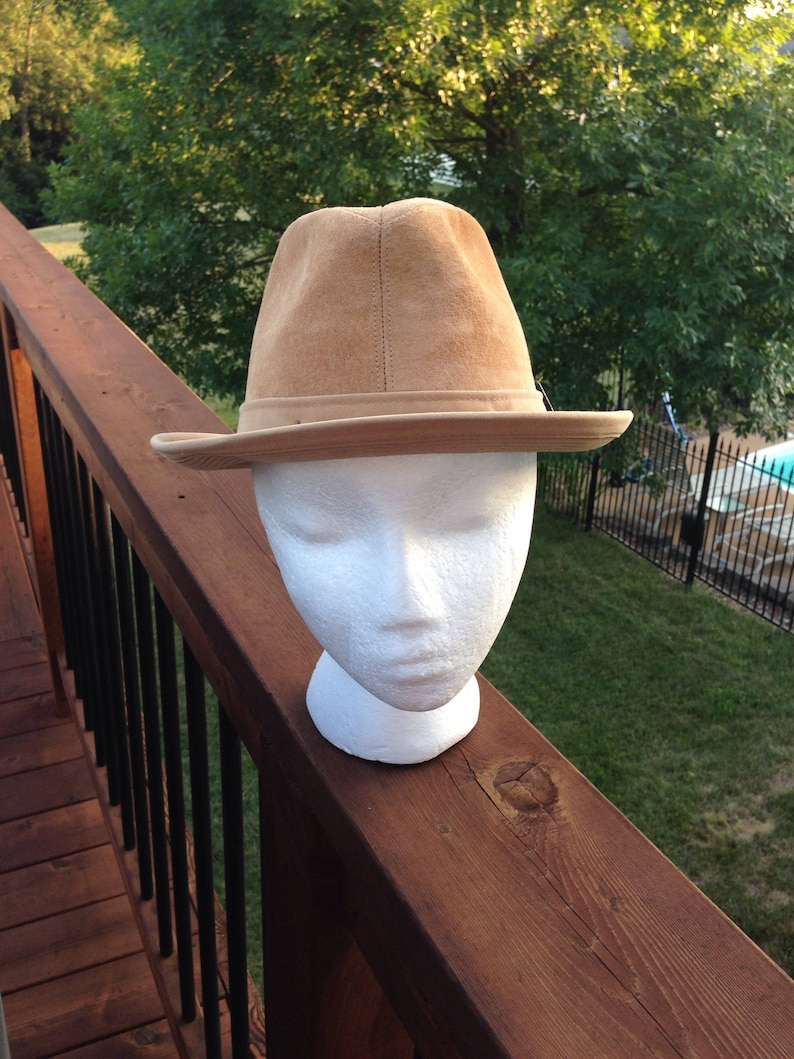 b106b69ddc4754 Dobbs Suede Fedora Camel Color Vintage Fashion Accessory | Etsy