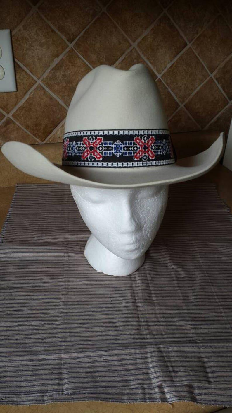 1cb5948a9318f5 Vintage Stetson 5X Hat Size 6 7/8 Stetson Cowboy Hat Beige | Etsy